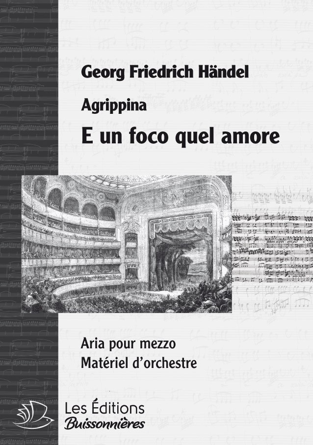 Händel : E un poco quel d'amore (Agripina), chant & orchestre