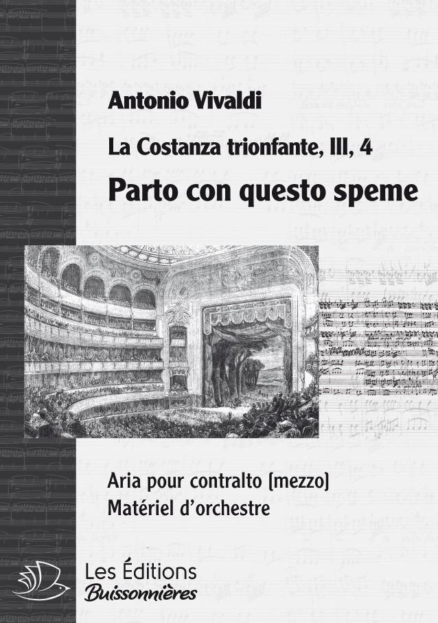 Vivaldi : Parto con questo speme (La Costanza trionfante), chant et orchestre