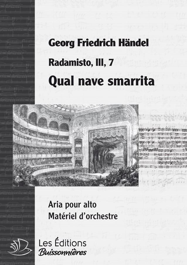 Händel : Qual nave smarrita (Radamisto), chant & orchestre