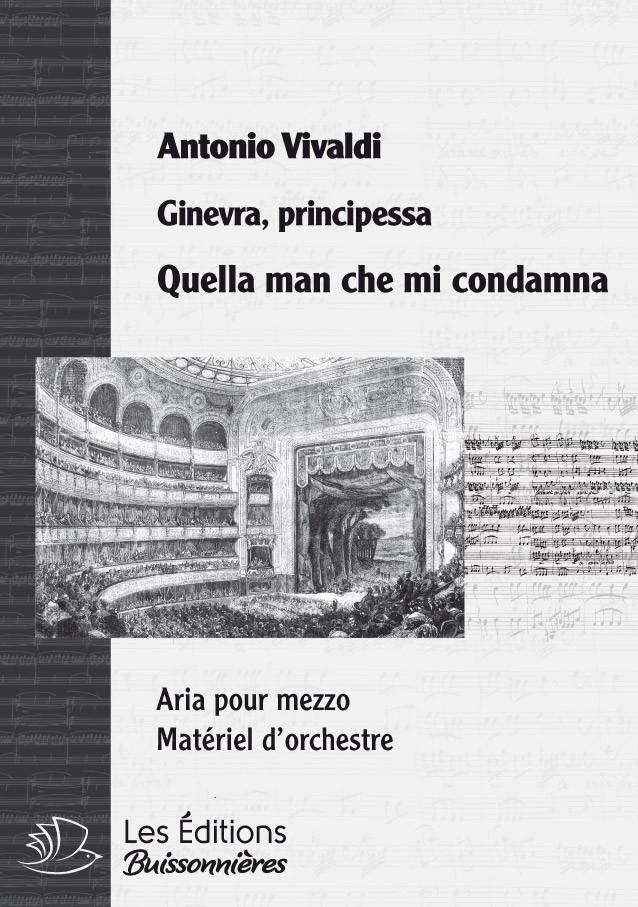 Vivaldi : Quella man che mi condamna, chant et orchestre