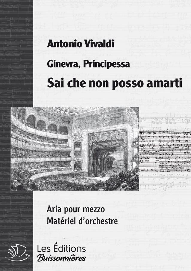 Vivaldi : Rusceletti limpidetti (Ginevra, principessa di S.), chant et orchestre
