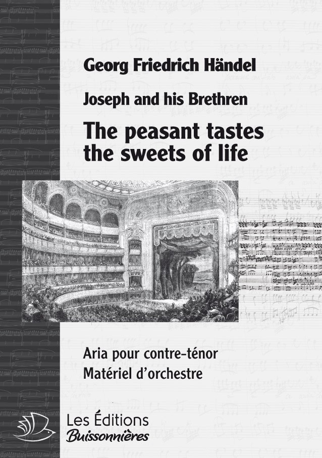 Händel : The peasant tastes the sweets of life, chant & orchestre
