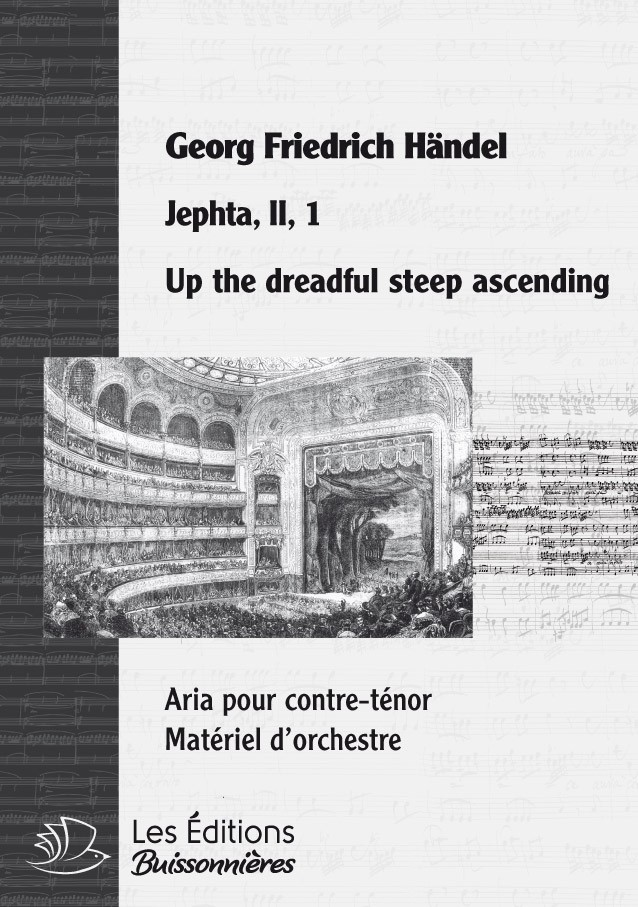 Händel : Up the dreadful steep ascending (Jephta), chant & orchestre