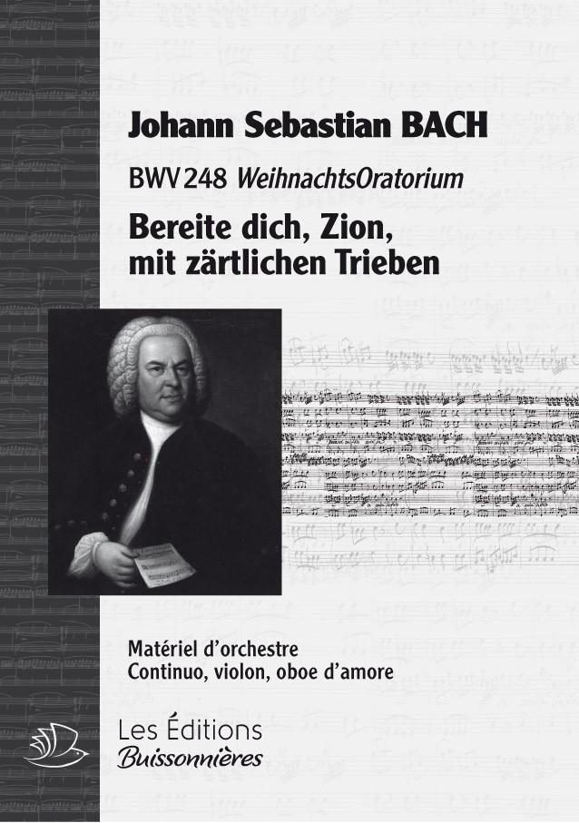 BACH : Bereite dich, Zion, mit zärtlichen Trieben (Weihnachtsoratorium), chant & orchestre