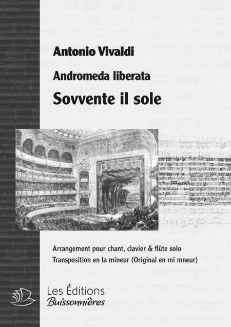 Vivaldi : Sovvente il sole, Andromeda liberata, chant, flûte solo et clavier (transposition en la mineur)