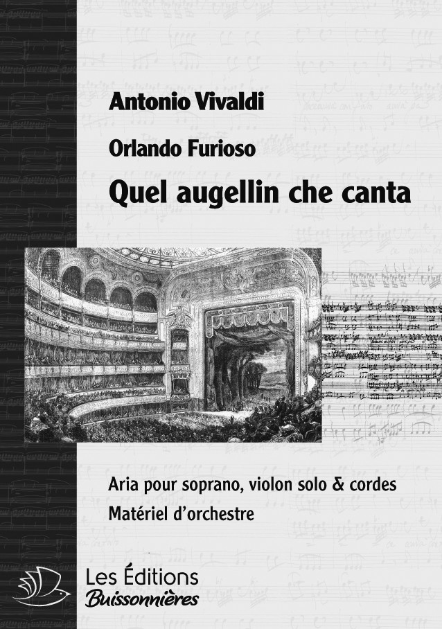 Vivaldi : Quel augellin (La Silvia), chant et orchestre