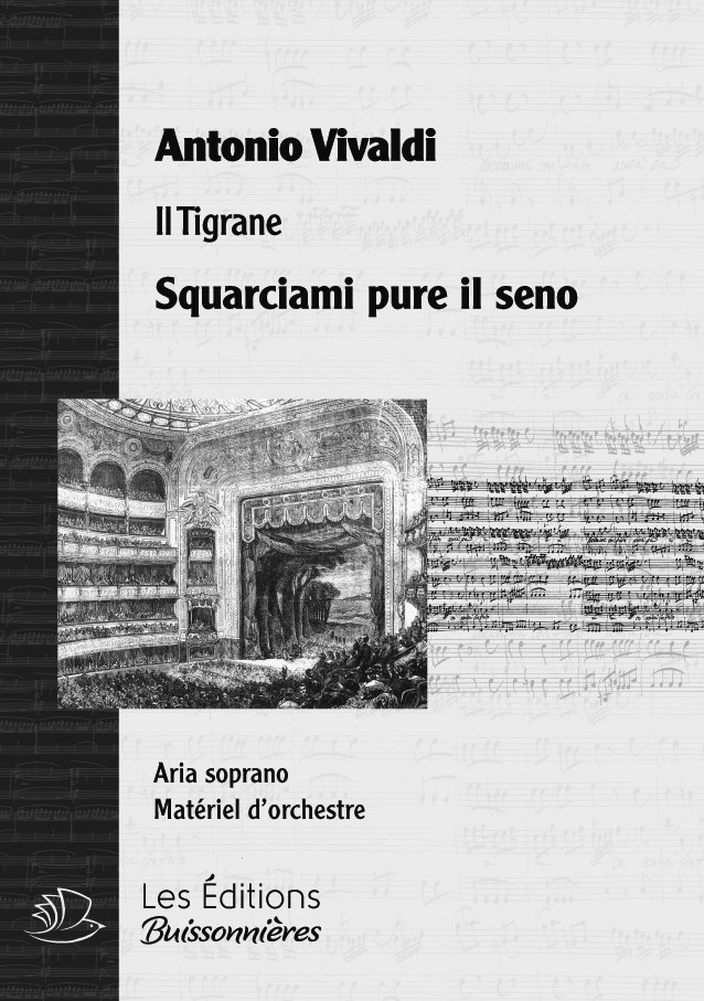 Vivaldi : Squarciami pure il seno (Il Tigrane), chant et orchestre