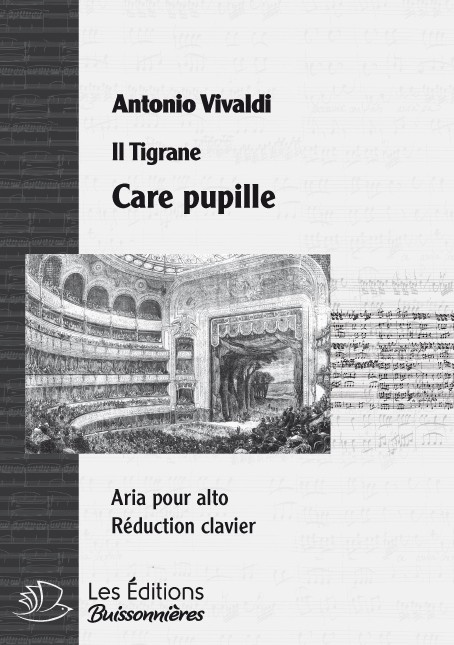 Vivaldi : Care pupille (La Candace), réduction chant-clavier