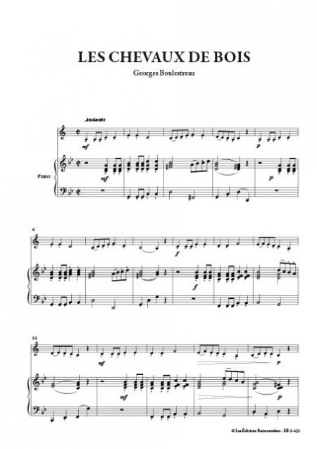 Les chevaux de bois, pour clarinette & piano (Georges Boulestreau)