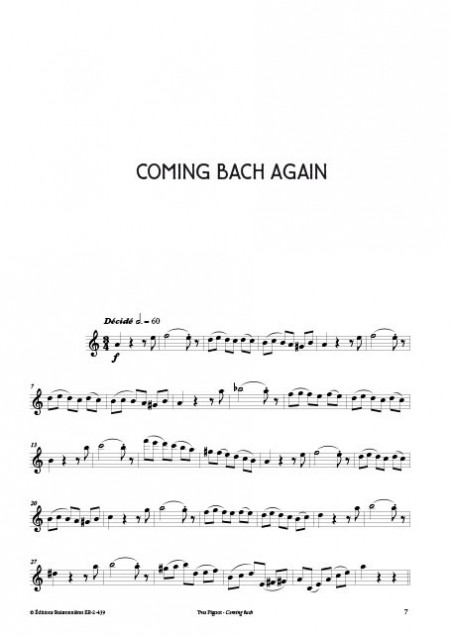 COMING BACK - Saxo ténor