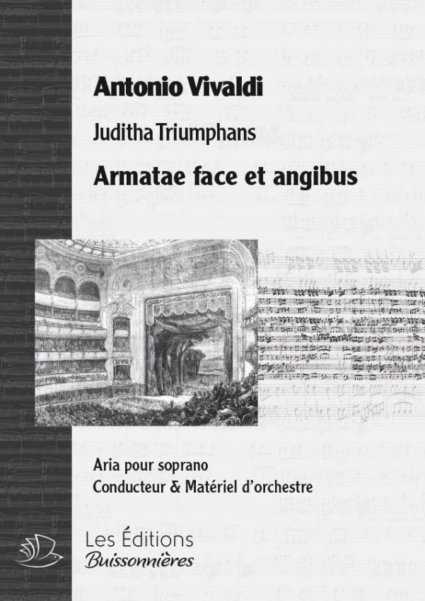 Vivaldi : Armatae face et angibus (Juditha trionfans), chant et orchestre