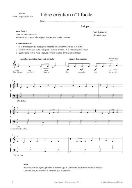 Le piano en vacances - vol.1, Pierre Sanpéré